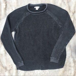 Gray and Black Knit Sweater Size Medium